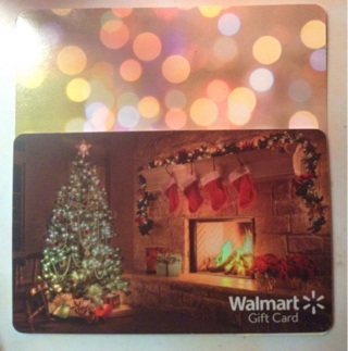 $5 WALMART GIFTCARD! Physical Card-Happy Holidays!