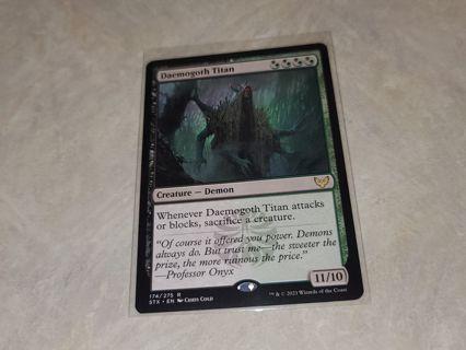 Magic the gathering mtg Daemogoth Titan rare card Strixhaven
