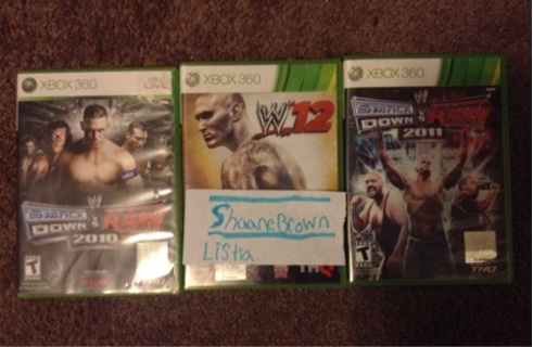 Lot Of 3 WWE Xbox Games
