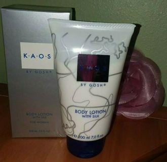 NEW KAOS By GOSH LARGE Body Lotion Designer With Silk 7.0 Fl Oz 200 ml