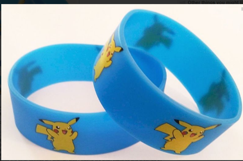 1 Pokemon Pikachu Wrist Band bracelet POKEMON JEWELRY pocket monster anime blue GIN