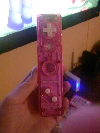 Clear pink Wii remote