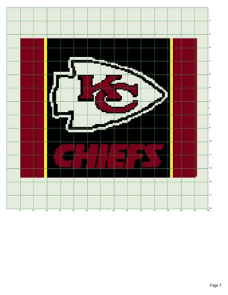 Crochet Pattern Kansas City Chiefs Afghan : Free: KC Chiefs afghan pattern - Crochet - Listia.com ...