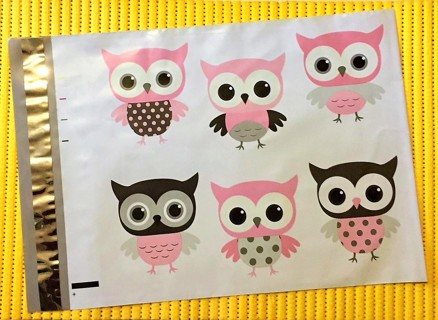 """7 OWL 10"""" x 13"""" Poly Mailers"""