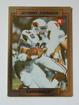 1990 (Action Packed) HI-PRO MKTG INC. JOHNNY JOHNSON (39) #22 ROOKIE Card RC Phoenix Cardinals RB **
