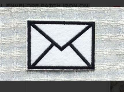 1 NEW CUTE SMALL ENVELOPE PATCH IRON ON ADHESIVE CLOTHING ACCESSORIES