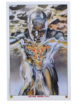 Alex Ross Silver Surfer Lithograph 11x17 Marvels #3 Herald Of Galactus Marvel Comics