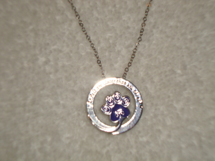 ATTN: Animal Lovers>>Purple Paw Necklace!!!