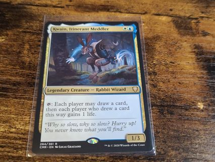 Magic the gathering mtg Kwain Itinerant Meddler rare card Commander Legends