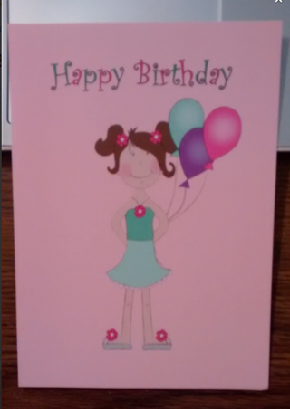Greeting Card: Happy Birthday, Get Well, or Baby Shower / New Mom! (1 card only)