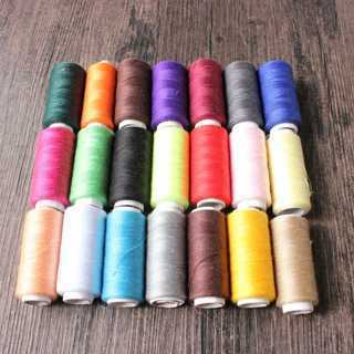 [GIN FOR FREE SHIPPING] 10Pcs Sewing Thread Machine Embroidery Thread 200 Yards