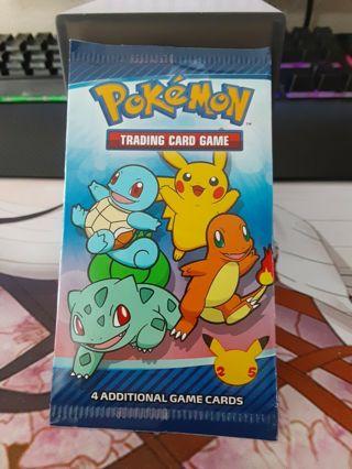 Unopened sealed Mcdonalds Pokemon trading cards pack Free shipping