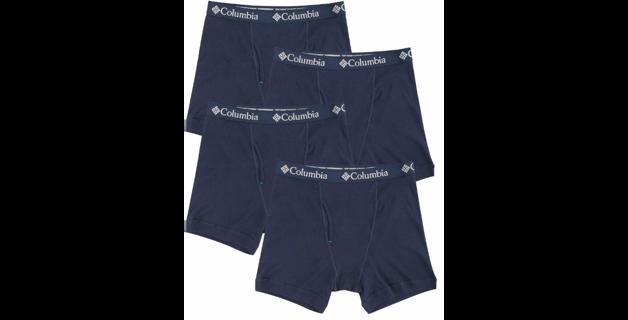 New! Columbia Mens 4-Pack Cotton Boxer Briefs