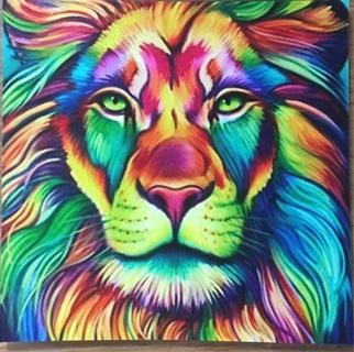 """LION FACE  - 3 x 3"""" MAGNET"""