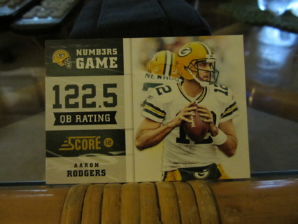 """***2012 SCORE """" NUMBERS GAME """" FOOTBALL CARD***AARON RODGERS***GREEN BAY PACKERS***"""