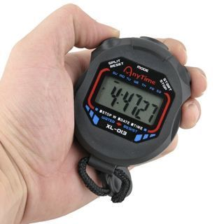 LCD Digital Professional Handheld Chronograph Sports Stopwatch Timer Stop Watch
