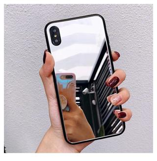 Shock-Proof Phone Case For iPhone XS XS MAX XR 6 6S 7 8 Plus X Luxury Cosmetic mirror Girly Glass