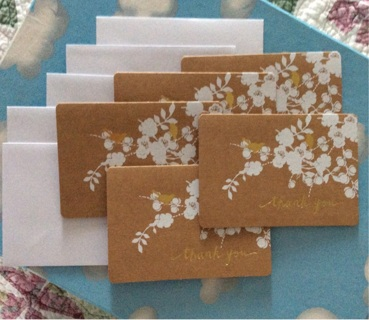 Beautiful stationary thank you note cards