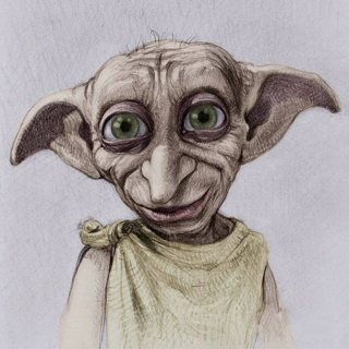 5D DIY Diamond Painting Loyal Dobby Harry Potter Cross Stitch Home Decor Gift
