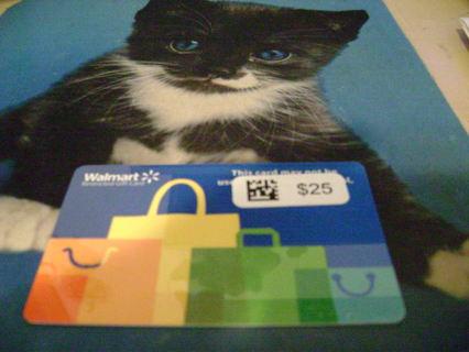 Walmart Gift Card-$25.00-Free Shipping.