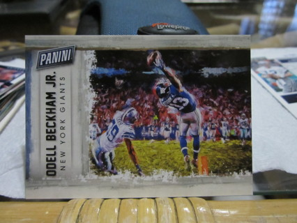"""***2015 PANINI FATHERS DAY """" THE CATCH """" ODELL BECKHAM JR.***N.Y. GIANTS/CLEVELAND BROWNS***"""