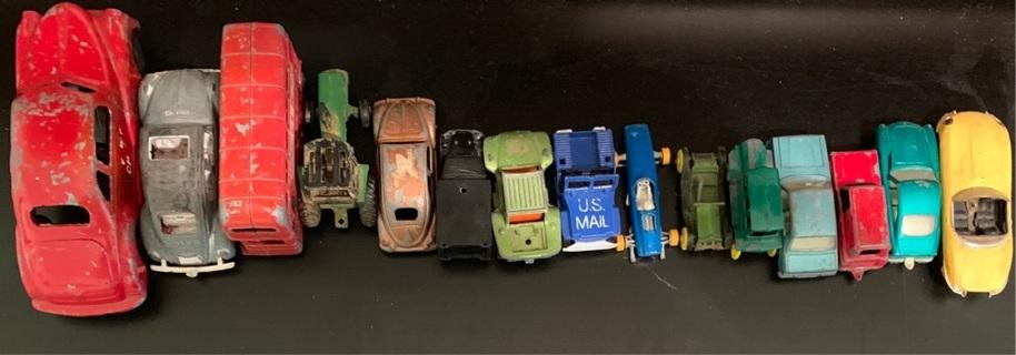 Huge estate lot of antique toy cars