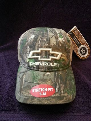 11b0d008e6e Free  Hat Hats  Team RealTree Camo Stretch Fit Chevrolet Hat
