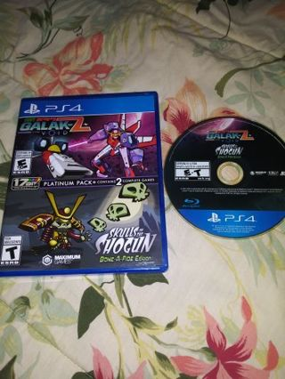 PS4 GALAK-Z/ SKULLS OF THE SHOGUN GAME BUNDLE...FREE SHIPPING WITH TRACKING...VERY GOOD CONDITION...