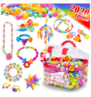 FunzBo Snap Pop Beads for Girls Toys - Kids Jewelry Making Kit