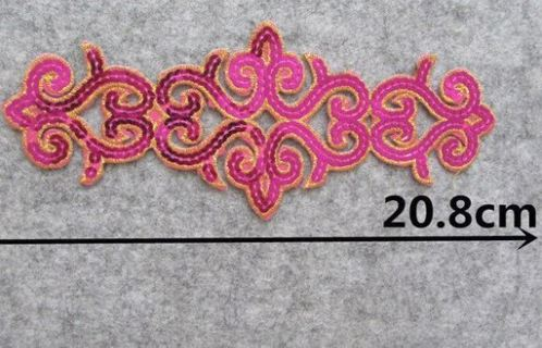 NEW Embroidered Sequin Fabric IRON ON PATCH DIY Clothing Decoration Embroidery Craft Accessories