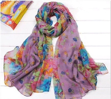 Gorgeous purple floral scarf