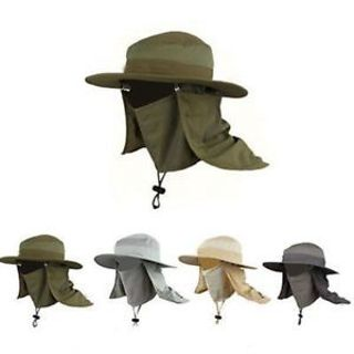 Outdoor Unisex Brim Sun Block Quick Drying Fishing Sun Cap Climbing Bucket Cap