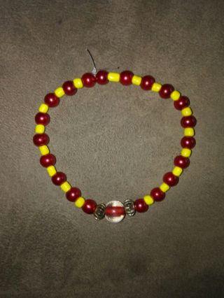 Red/Yellow bead bracelet