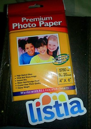 Includes 20 photo gloss sheets for 4×6 photos
