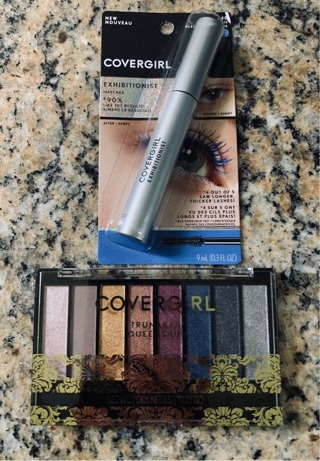 CoverGirl TrueNaked Queenship Eyeshadow Palette And CoverGirl Exhibitionist True Blue Mascara