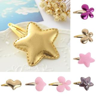 10pcs Baby Girls Hair Clip Butterfly Star PU Leather Pin Kid Hairpin Xmas Gift