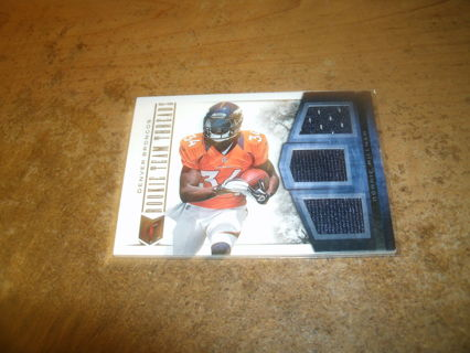 2012 panini triple jersey relic-ronnie hillman-broncos-serial#60/99!sp-nfl-rookie team threads-rc