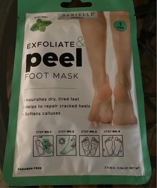 Exfoliate & Peel Foot Mask retail $5