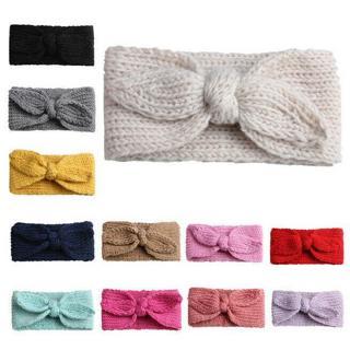 Baby Toddler Kids Girl Knit Bow Headband Hair Band Headwear Head Wrap Cotton