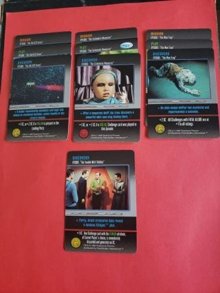 10 Star Trek The Card Game Original Series Lot #4