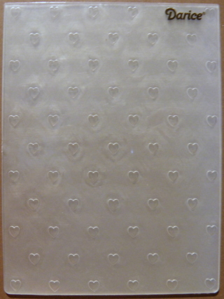 MINI HEARTS ~ Darice Embossing Folder