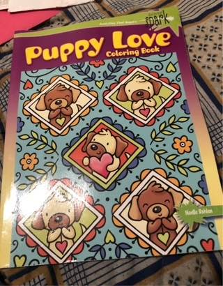 Puppy love coloring book