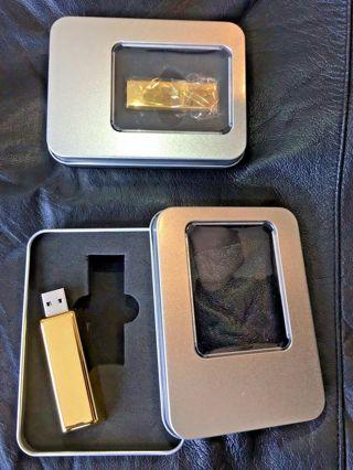 """USB FLASH DRIVE """"The Gold Brick"""" - 8GB"""