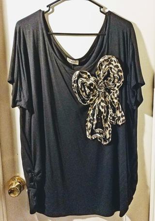 Womens Shirt, Black, 2X