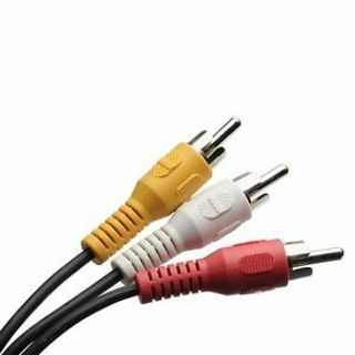 Composite Audio 1m New For HDTV DVD Cable 3 RCA To 3 RCA Video AV Male To Male