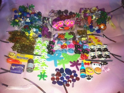 ****CABOCHON GALORE!!!!HELLO KITTY,DECO DEN, BLING JEWEL'S, BEAD'S AND MORE!**FREE SHIPPING!!!!