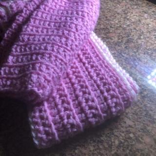 Hand crocheted Children's Scarf & Hat.