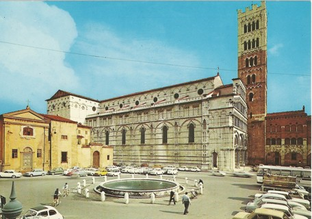 St. Martino and Antelminelli Square, Lucca, Italy