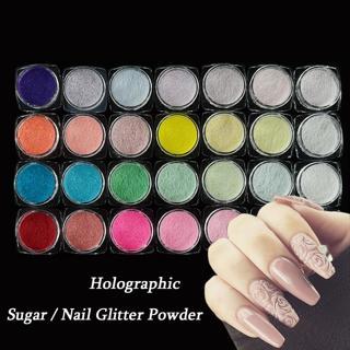 1 Bottle Holographic Nail Glitter Powder Shining Sugar Nail Glitter Dust Powder Nail Art Decoratio