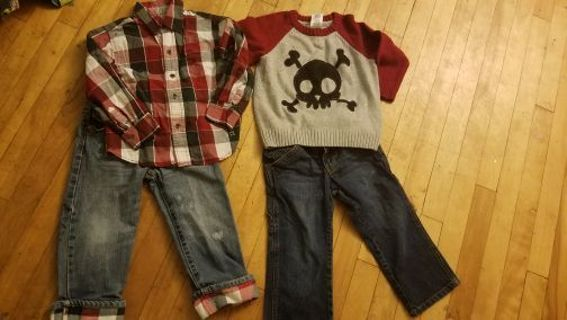BOYS FALL/WINTER clothes 3t (name BRANDS!!)